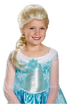 Disney Frozen Elsa Anna Let It Olaf Kristen Bell Child Costume Cosplay Wig 79354