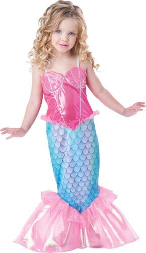 Mermaid Costume Kids Toddler Halloween Fancy Dress