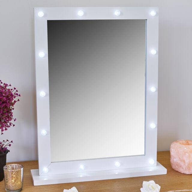 Round Light Up Make Mirror Bedroom, Vanity Mirror With Lights For Bedroom