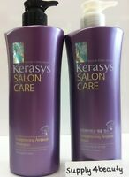 Kerasys - Straightening Ampoule Shampoo & Conditioner 600ml Each Free Samples