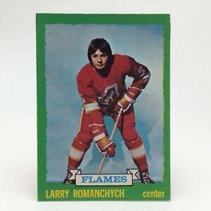 1973-74-OPC-O-Pee-Chee-Larry-Romanchych-185-Atlanta-Flames-Hockey-Card-E655