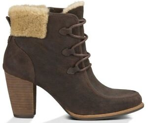 f3ae2a8e509 Details about UGG® AUSTRALIA ANALISE BROWN LEATHER HEELED ANKLE BOOTS UK  7.5 /40 BNIB RRP £195