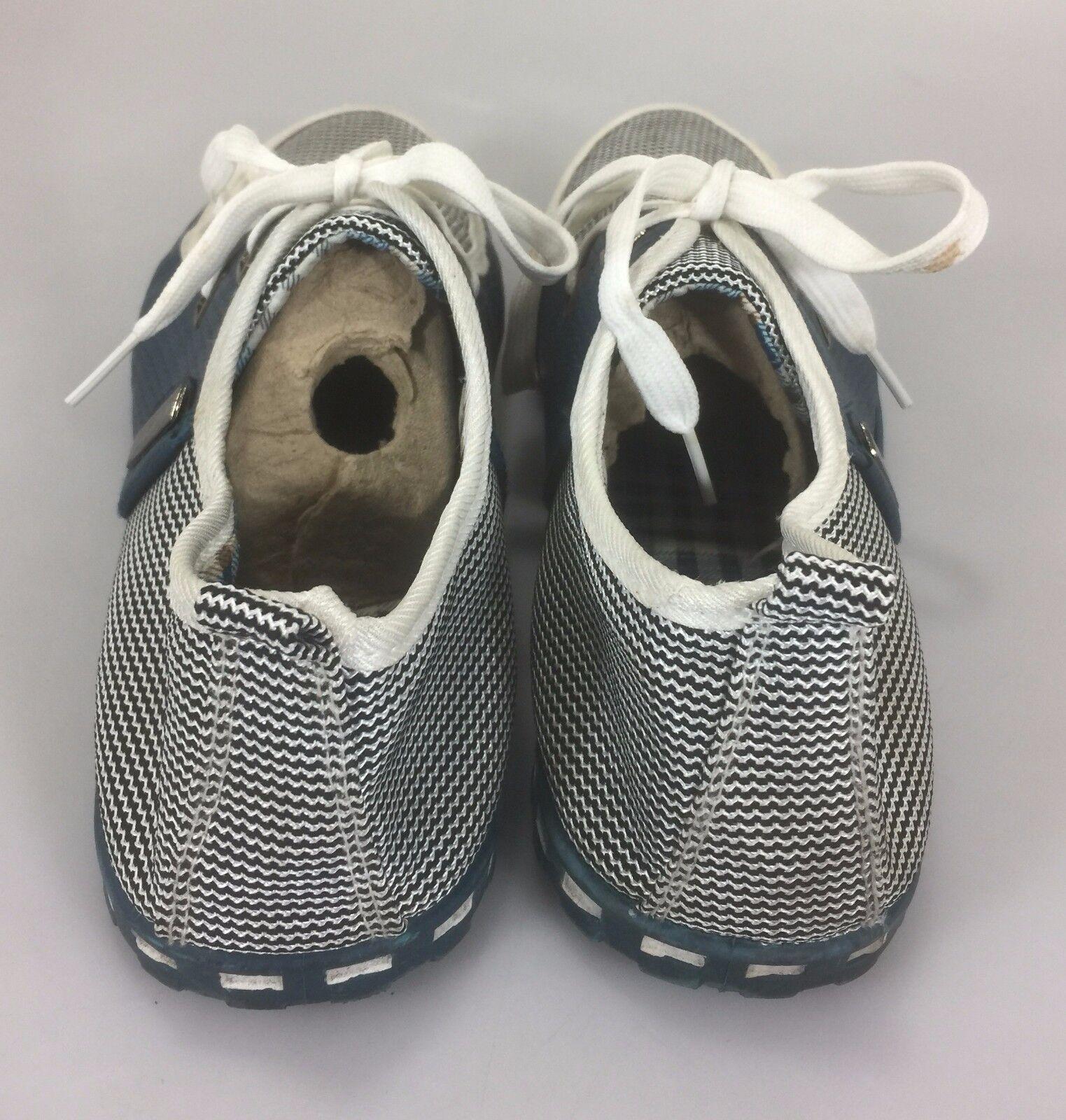 Shoens scarpe le 12 uomini blu bianco controlla le scarpe scarpe da ginnastica 46 ue c91561