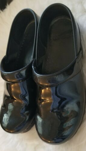 Womens Professional Black Patent Leather Comfort D