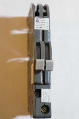 UB INC UBIZ-0240 UBIZ0240 40 AMP TWO POLE THIN ZINSCO RC3840 CIRCUIT BREAKER NEW