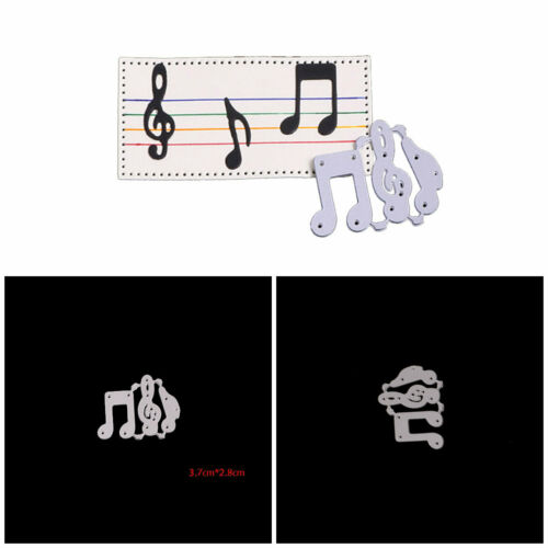 Music Note Cutting Dies Stencil DIY Making Tool Alubum Card Scrapbooking