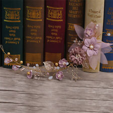 Purple series bride headdress long hair flower wedding decoration gold purple series bride headdress long hair flower wedding decor ornament v junglespirit Gallery