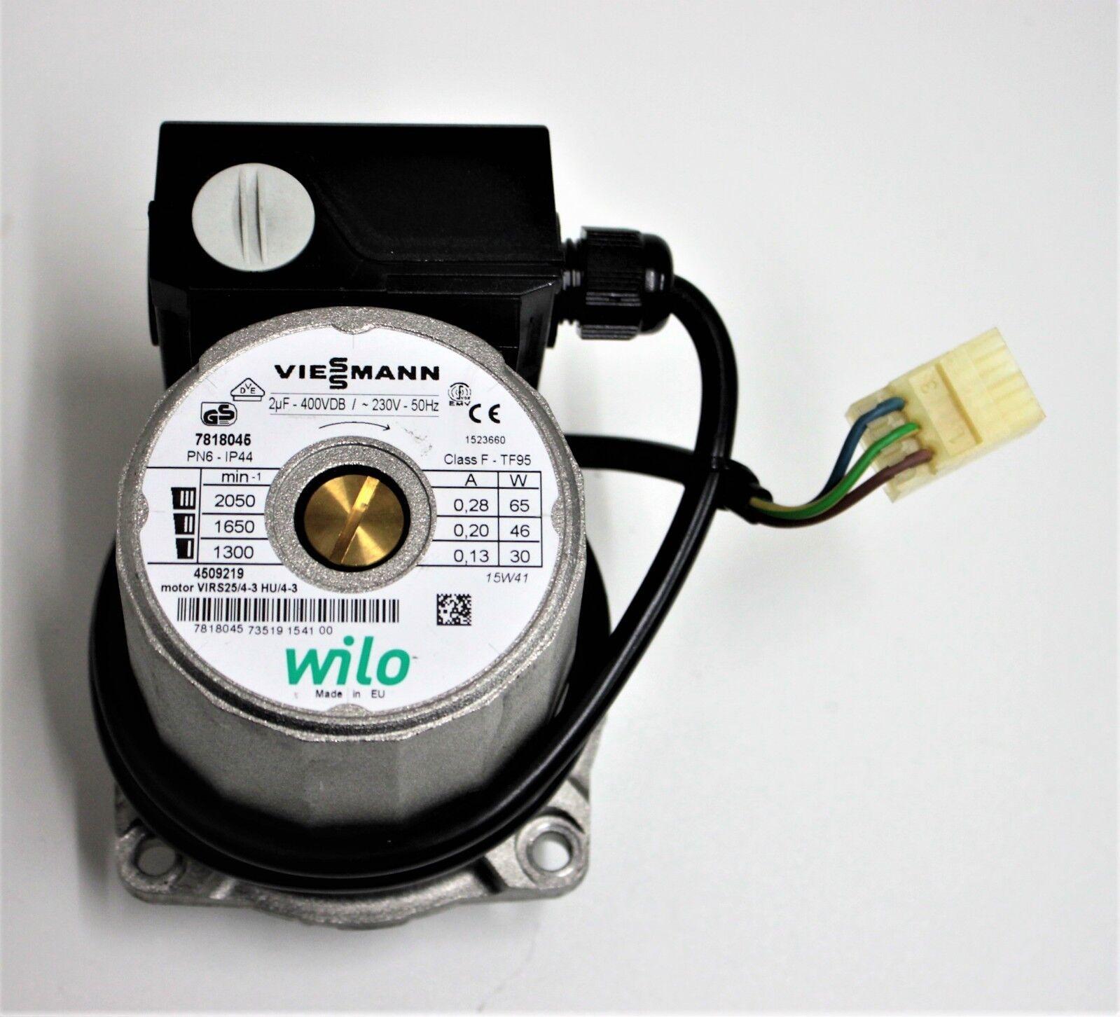 Viessmann 7818045 Umwälzpumpe VIRS25/4-3 HU/4-3 HU/4-3 HU/4-3 Wilo 4509219 a5c8ee