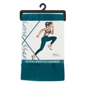 Fit-Kicks-Women-039-s-Active-Leggings-w-Side-Pocket-TEAL-Size-S
