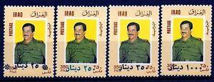 IRAQ-IRAK-1996-Overprint-Surcharged-Change-Value-Saddam-SC-1517A-1519-RARE