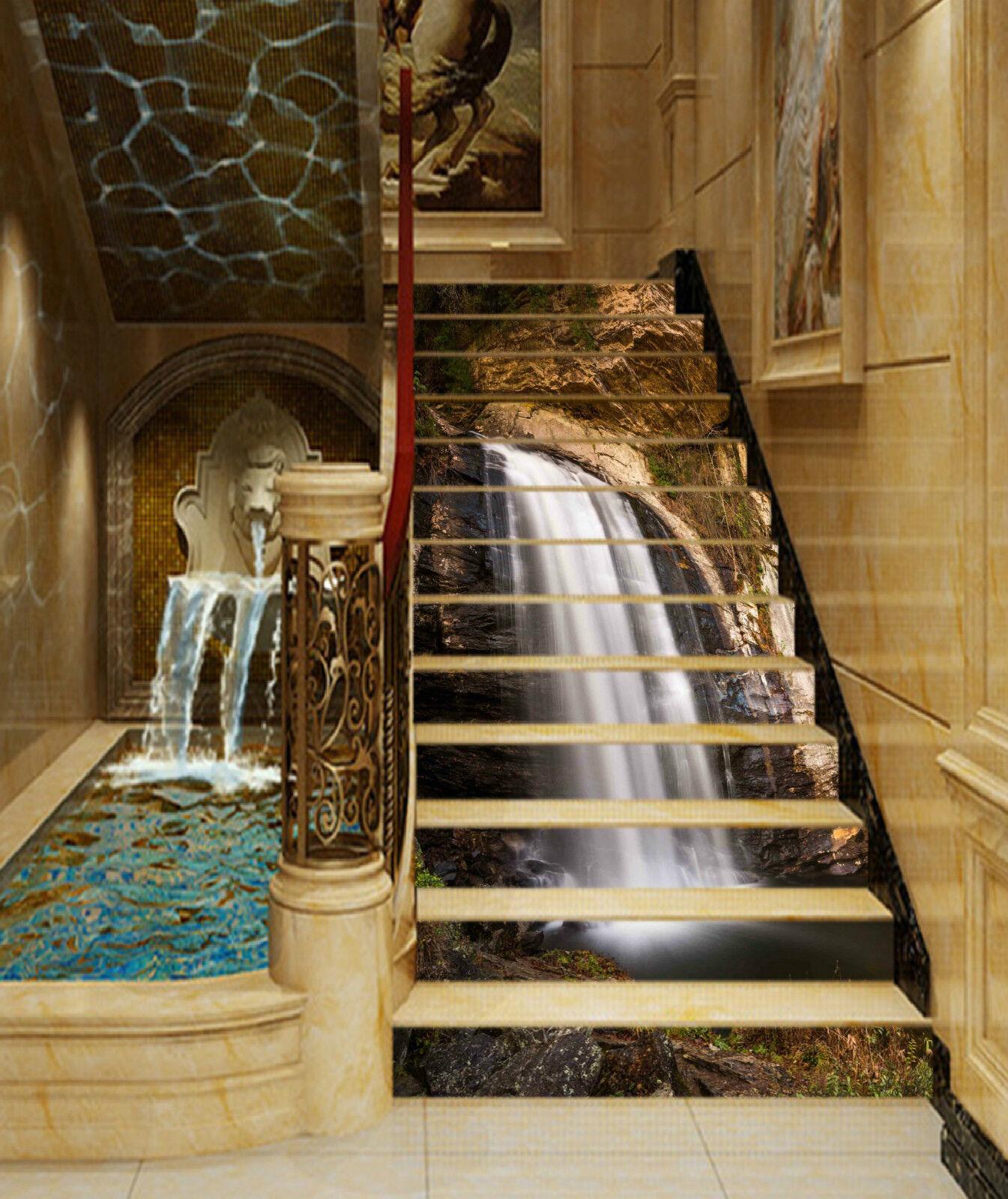 3d cascada 0049 Stair Risers decoración mural mural mural vinyl sticker de papel pintado 6a5054