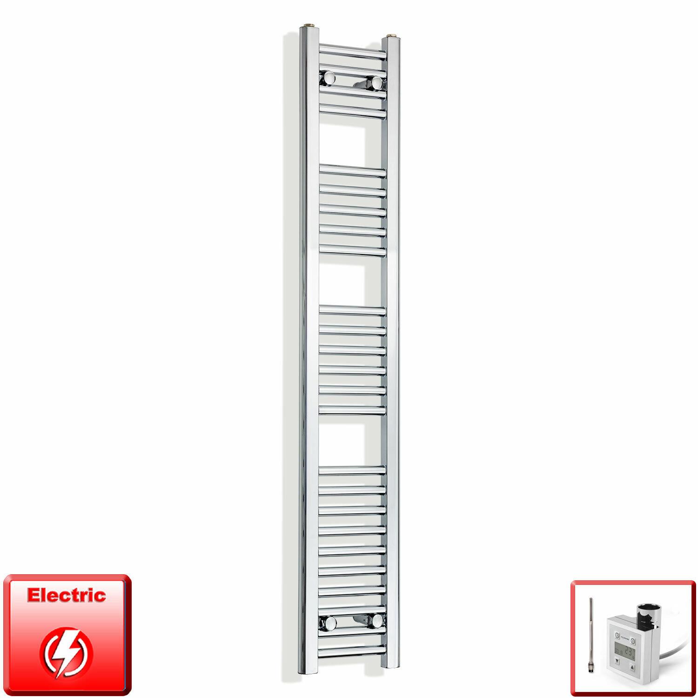 Chrome 1400 x 200 mm électrique Sèche-Serviettes Radiateur Salle de bains pré-remplie Htr