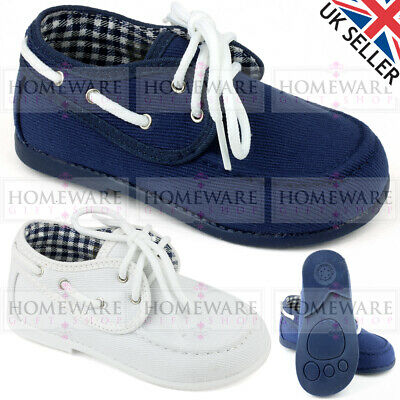 BABY BOYS DECK SHOES SPANISH STYLE BOAT
