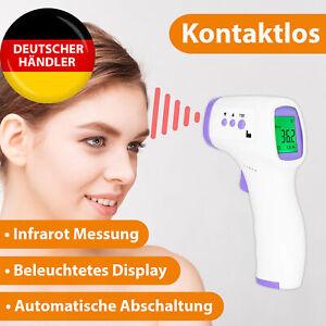 Digital Fieberthermometer Infrarot LCD Thermometer Stirnthermometer kontaktlos