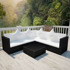 Item 1 VidaXL Patio Wicker Rattan Garden Set Outdoor Sofa Lounge Couch  Furniture Black  VidaXL Patio Wicker Rattan Garden Set Outdoor Sofa Lounge  Couch ...
