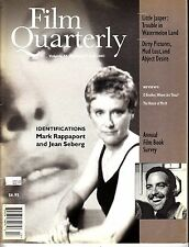 Film Quarterly Fall 2001 Mark Rappaport Jean Seberg House of Mirth