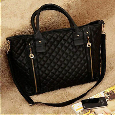 Women's Handbags Bags Leather Shoulder Tote Crossbody Bag Hobo Handbag Black A+