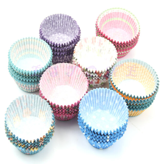 100pcs Wedding Paper Cupcake Cases Wrapper Liners Baking Muffin Kitchen DIY