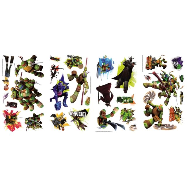Age Mutant Ninja Turtles 30 Wall Decals Tmnt Raph Leo Room Decor Stickers