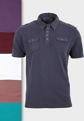 7dc9c3ab2035 Details about Mens Matalan Polo T Shirts Knitted Cotton Fabric Short Sleeves  Twin Pocket Top