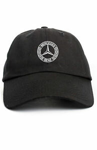 231e5f11e9ce4 Image is loading Mercedes-Benz-Hat-AMG-Unstructured-Black-Dad-Hat-