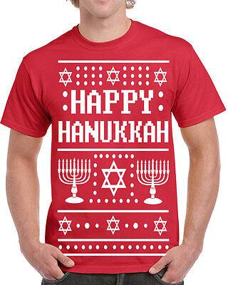 Jewish Christmas Sweater.528 Happy Hanukkah Ugly Christmas Sweater Mens T Shirt Jewish Holiday Funny New Ebay