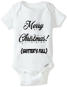 image is loading merry christmas shitter 039 s full authentic gerber - Christmas Vacation Onesie