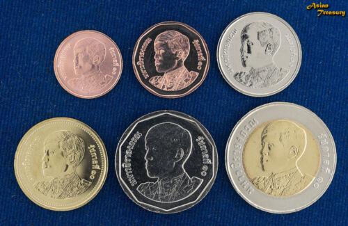 2018 THAILAND 6 COIN SET NEW KING RAMA X  BIMETALLIC UNCIRCULATE UNC