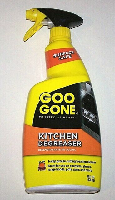 Easy Off Stove Top Cleaner: New GOO GONE Kitchen Degreaser Spray Grease Cutting Foam
