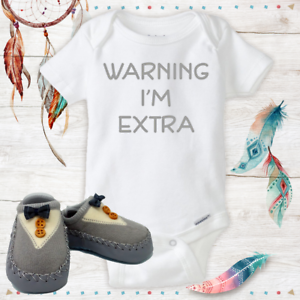 Extra Funny Onesies Baby Boy Shoes Baby Shower Gift Set Newborn New Dad Gifts