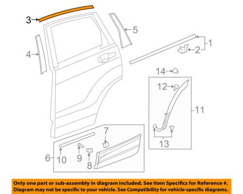 HONDA OEM 17-18 CR-V Exterior-Rear-Upper Molding Trim Right 72925TLAA01
