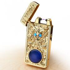 Gold USB Feuerzeug Lighter Lichtbogen Zigarette Arc Elektronische Winddicht Neu