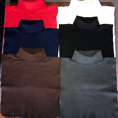 TURTLE NECK DICKIES 6-PACK 100/% COTTON MADE IN USA DIRECT FROM MFG FREE SHIPPING