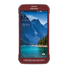 Samsung Galaxy S5 Active SM-G870A UNLOCKED AT&T 4G LTE Android Smartphone - Red
