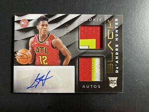 2019-20 Panini BLACK Basketball De'ANDRE Hunter Rookie Card 8/10 Auto Jersey rc