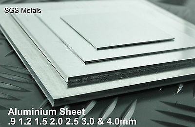 Aluminium Sheet  Plate Guillotine Cut - 25 off the shelf sizes -Fly Press Folder