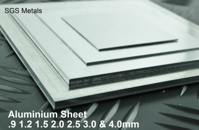 Aluminium Sheet  Plate Guillotine Cut - 25 off the shelf sizes -Fly Press Folder