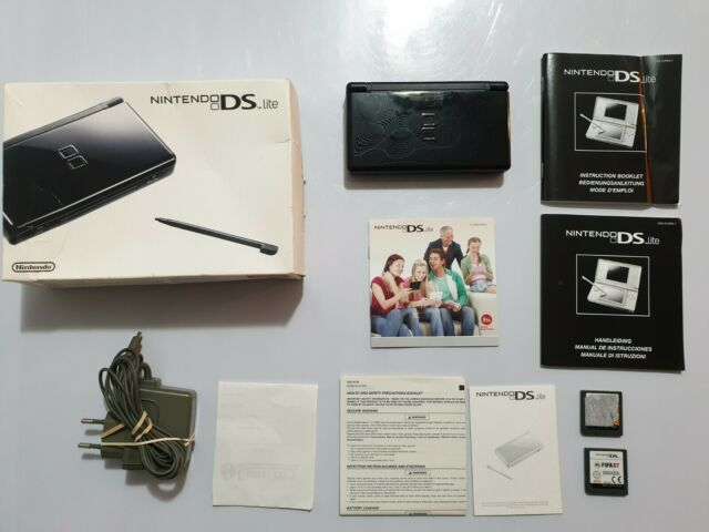 Consola Nintendo Ds Lite+caja+papeles+cargador+2 juegos de regalo+ticket compra