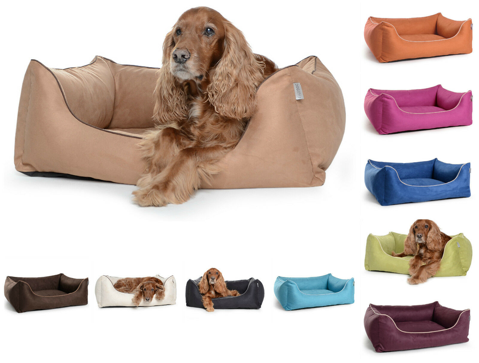 Mypado Hundebett Worldcollection Wildlederimitat Hundesofa Körbchen XS - XL