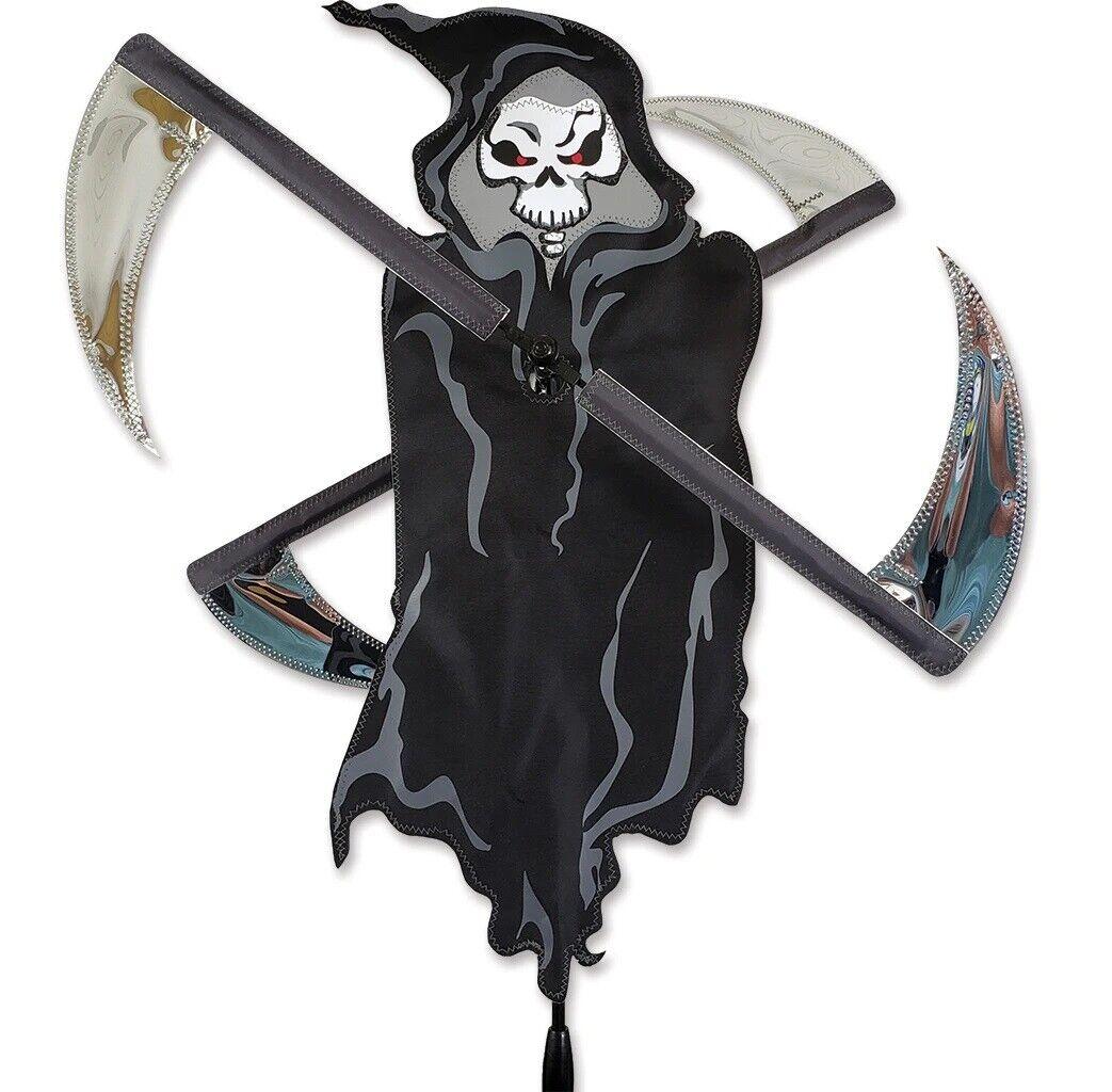 GRIM REAPER Whirligig Wind Spinner Yard Stake Halloween Décor #21934