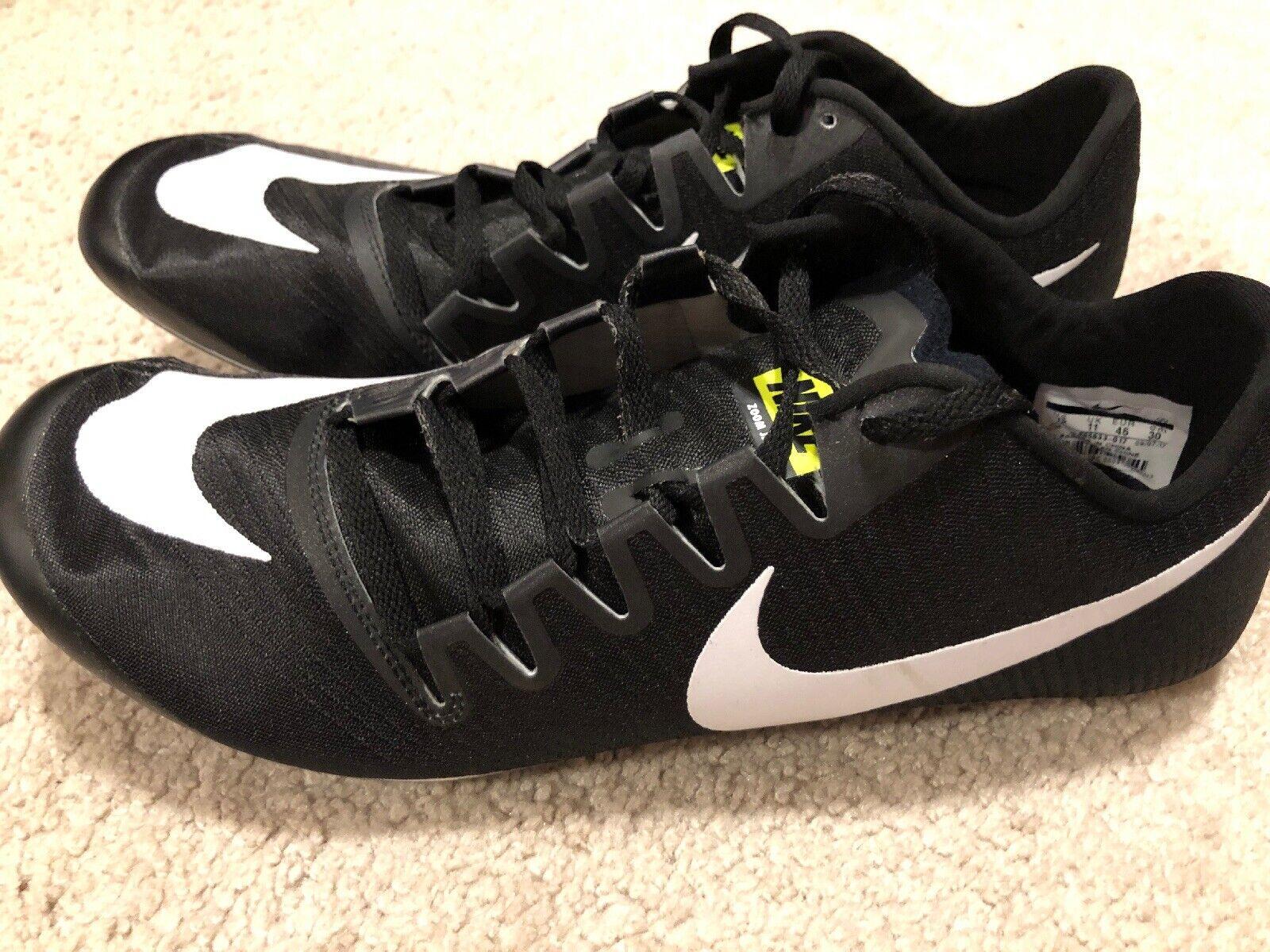 NWOB Nike Zoom Ja Fly 3 Track Pinchos Hombre NOS 12.5 blancoo y Negro