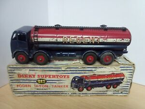 P193-DINKY No942 FODEN 8-WHEEL REGENT TANKER AND BOX.