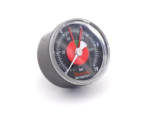Rexroth aventics PRESSURE GAUGE MANOMETRO indicatore di pressione g1//4 0-10bar r412007871