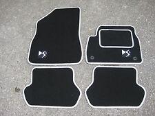 Citroen DS5 (2011 onwards) Car Mats in Black/White trim + DS5 Logos + Fixings