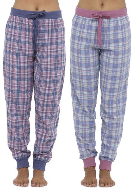 Foxbury Ladies Woven Check Lounge Pants Trousers