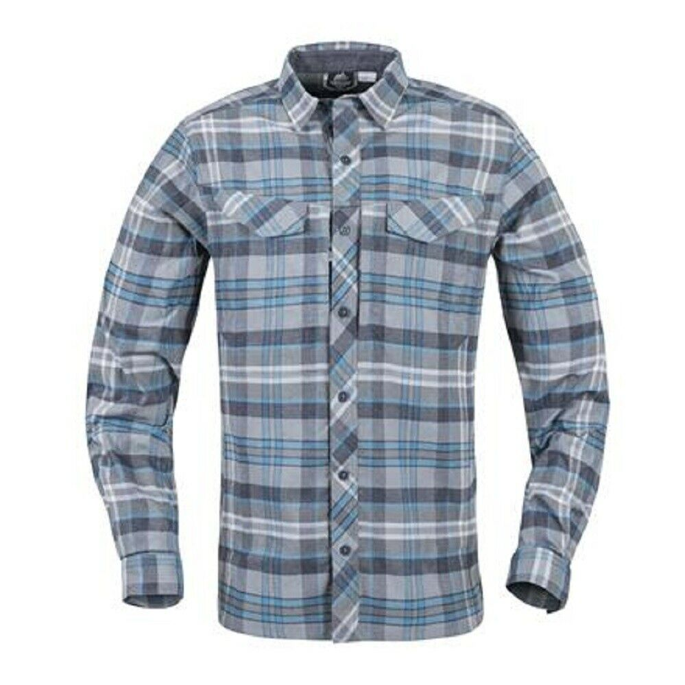 HELIKON tex defender mk2 Pilgrim Long sleeve camisa azul Plaid outdoor camisa XL