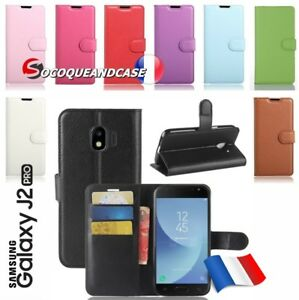 Coque-housse-XCOLOR-PU-Leather-Wallet-case-cover-pour-Samsung-Galaxy-J2-pro-2018