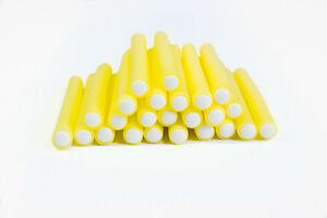 24-x-yellow-soft-bendy-hair-rollers-curlers-15cm