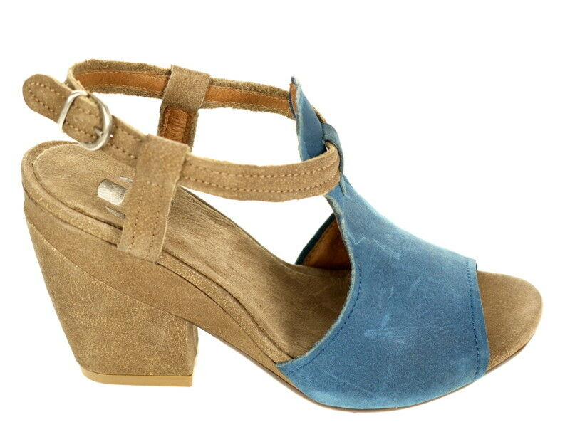 Hangar Schuhe Pumps Art. 4803 braun blau Gr.40 Original Sandalette  Neu und OVP