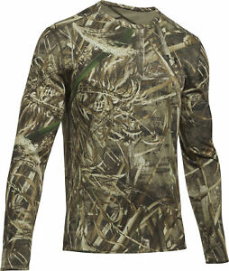 419d7fbedb5 Under Armour Reversible Wool Long Sleeve Mens Base Layer Top - Green ...
